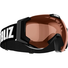 Bliz Carver Small Goggles, black-white/orange